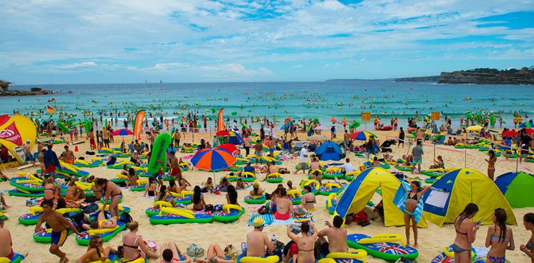 Dan Australije na plazi